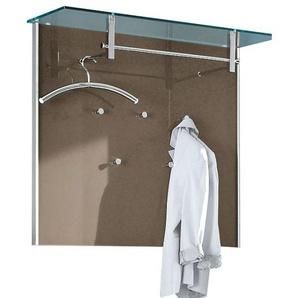 MONDO Garderobe COOL Glas Braun/Rahmen Aluminium  ca. 102 x 89 x 33 cm