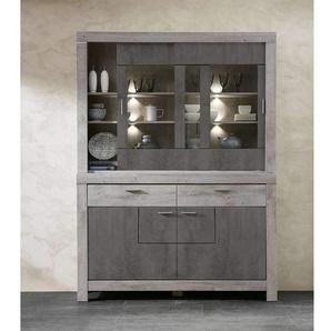 Wohnconcept Granada Speisezimmer-Set mit Beleuchtung 2-tlg. Haveleiche/Betonoxid