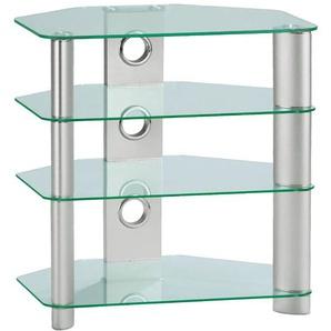TV-Möbel HARRY Klarglas/Metall ca. 65 x 70 x 45 cm