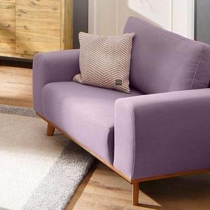 Home affaire XXL-Sessel »Gabrielle«, mit Holzrahmen, im eleganten skandinavischen Design, rosa, Struktur fein