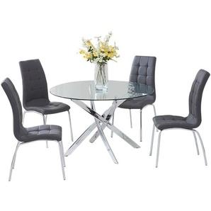Essgruppe Dawson mit 4 Stühlen