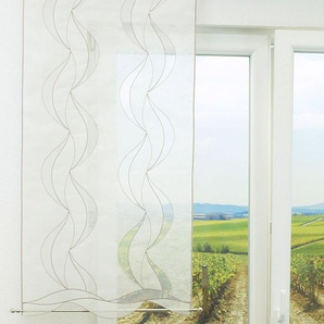 Schiebevorhang  von LYSEL® Curly transparent  in den Maßen 120 cm x 60 cm beige