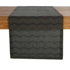 Tischläufer Fine Stitch, B:40cm x L:150cm, schwarz