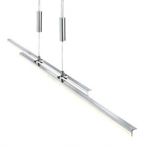 casaNOVA verstellbare, dimmbare LED Pendellampe 2 flg MAO Chromfarbig mit Kristallband
