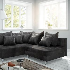 Ecksofa Clovis Anthrazit Antik Optik Ottomane Links Modulsofa, Design Ecksofas, Couch Loft, Modulsofa, modular