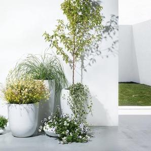 Blumenkübel weiss rund 35 x 35 x 19 cm ISEO