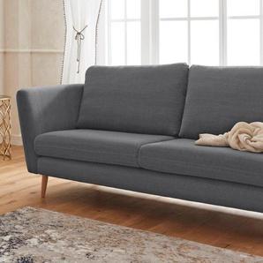 Guido Maria Kretschmer Home&Living 2-Sitzer »Cergy«, in skandinavischem Stil, mit Beinen aus Eiche, grau, Baumwolle