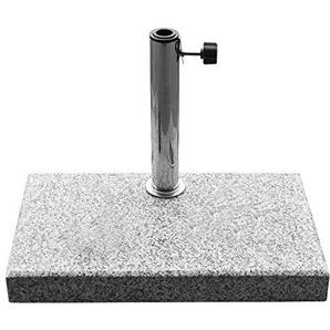 DELSCHEN 23 kg Balkon-Sonnenschirmständer aus grauem Granit, mit 3 Adapter-Ringen