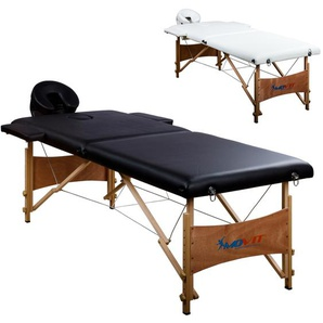 MOVIT® Mobile Massageliege, Massagebank, Schwarz