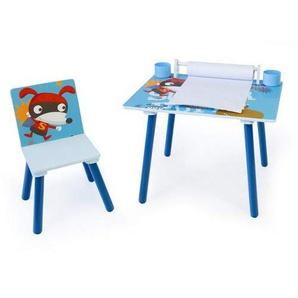 Homestyle4u 1763 Kindersitzgruppe Hund Kindermobel Set Aus 1 Kindertisch Mit Stuhl Papierrolle