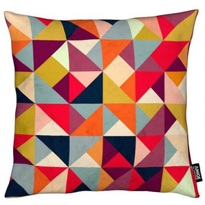 Bright Geometric Happy Pattern - Kissen