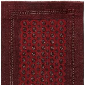 Orientteppich Afghan Akhche Buchara 283x195 Handgeknüpfter Teppich