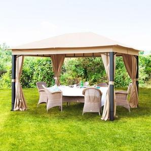 Gartenpavillon Sunset Premium cappuccino, 3x4m