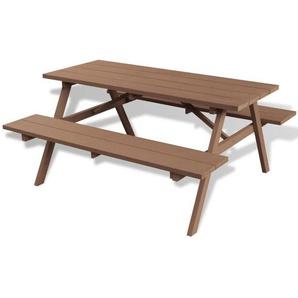 Picknicktisch mit Bänken Braun 150×139×72,5 cm WPC - VIDAXL