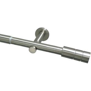 Gardinia Stilgarnitur Zylinder edelstahl 190 - 360 cm
