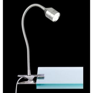 FISCHER & HONSEL flexible LED Schreibtischlampe / Leselampe zum Klemmen 1 flg LOVI Nickel