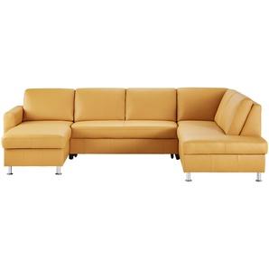 uno Wohnlandschaft  gelb - Leder Power ¦ gelb ¦ Maße (cm): B: 294 T: 160 Polstermöbel  Sofas  Schlafsofas » Höffner