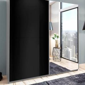 Schwebetürenschrank »Meppen«, schwarz, Breite 180 cm, 2-türig, Hochglanz, Wimex