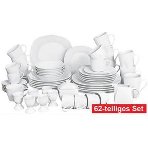 retsch arzberg Kaffee- und Tafelservice 62teilig COSMOS WHITE Weiß