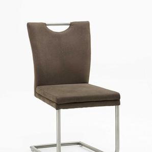 Freischwinger Top Chair Edelstahl beige NIEHOFF 826102756 (BHT 44x94x58 cm) Niehoff-Sitzmöbel