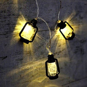 elegantstunning Innovation Mini LED Laterne Dekorative Farbe Lampe String Lights