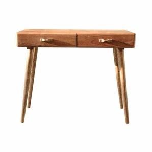 PC Tisch aus Akazie Massivholz 100 cm