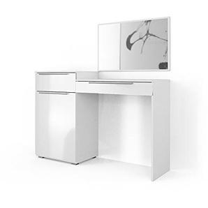 Vicco Schminktisch Little Lilli Weiß Hochglanz - Frisiertisch Kosmetik Set Design Kommode mit Spiegel (Schminktisch einzeln)