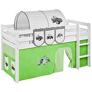 Lilokids Vorhang Trecker Grün Beige - für Hochbett, Spielbett und Etagenbett