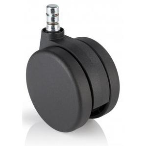 5x Rolo No-Noise 11mm/75mm Teppichböden - Stuhlrollen