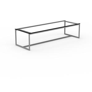 Beistelltisch Rauchglas Schwarz klar - Eleganter Nachttisch: Hochwertige Materialien, einzigartiges Design - 121 x 30 x 42 cm, Komplett anpassbar