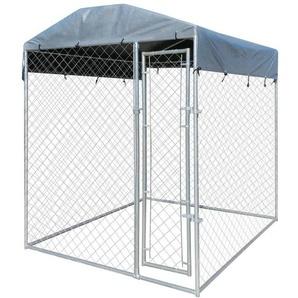 Outdoor-Hundezwinger mit Überdachung 2x2 m - VIDAXL