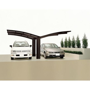 Ximax Design-Doppelcarport Portoforte 60 Y-Ausführung, Farbe der Profile:Bronze