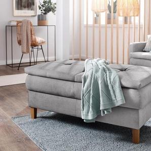 Home Affaire Hocker »Snap«, silber, B/H/T: 118x49x67cm, hoher Sitzkomfort, FSC®-zertifiziert