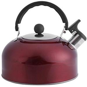 3L Edelstahl Wasserkocher Flachbett Für Boot Camping Kocher Gas Große Dachrinne Wasserkocher Hemisphere heißes Wasser Tea Kochen schnell rot