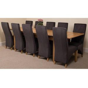 Essgruppe Upslope mit ausziehbarem Tisch und 10 Stühlen