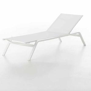 Gandia Blasco - Stack Liegestuhl - Gestell weiß - weiß - outdoor