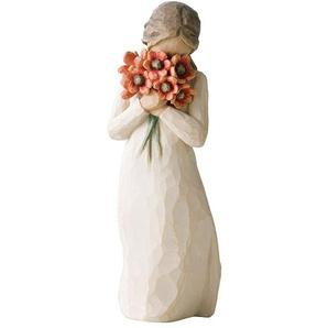 WILLOW TREE by enesco Dekofigur Mädchen mit hellroten Blumen UMGEBEN VON LIEBE