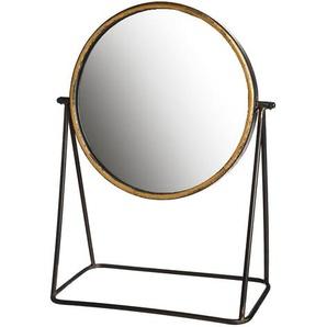 Spiegel Vintage, 28x13x40cm, schwarz