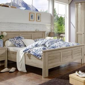 Doppelbett in Kassettenoptik - Eiche natur - 160x210 cm - Catio