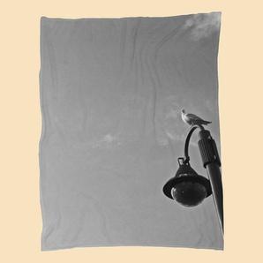 Seagull on lantern-Fleecedecke