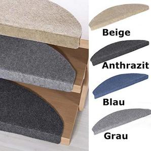 andiamo Stufenmatte, Schutz für die Treppe, Selbstklebend und Pflegeleicht, in Verschiedenen Farben, Set zu je 15, Farbe:Grau;Größe:23x65cm