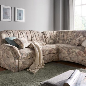 Domo Collection Ecksofa mit Schlaffunktion, braun, komfortabler Federkern