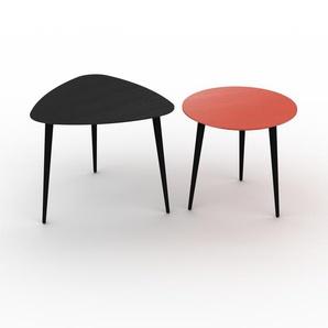 Couchtisch Rot - Eleganter Sofatisch: Beste Qualität, einzigartiges Design - 59/50 x 50/47 x 61/50 cm, Konfigurator