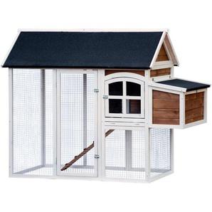 Hühnerstall oder Kleintierstall XL mit Freigehege 180 x 90 x 145 cm