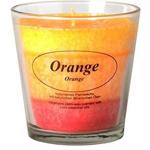 Bütic GmbH 3-farbige Stearin Duftkerzen im Glas, Duft:Orange