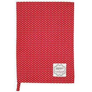 Krasilnikoff KW0239 Geschirrtuch - Küchentuch - Baumwolle - rot - weiße Punkte - 50x70 cm