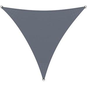 Detex® Sonnensegel Sonnenschutz Windschutz | Oxford Gewebe | wasserabweisend & windabweisend | UV50-Schutz | Dreieck 4x4x4m | 7-Fach quer vernäht | robust & stabil | anthrazit | Modellauswahl