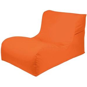 Outdoor Liege in Orange Sitzsack