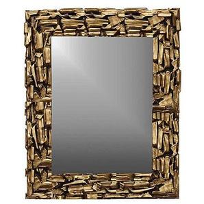 Rahmenspiegel Massivholzrahmen Gold lackiert ca. 73 x 113 x 3,8 cm