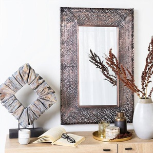 Wandspiegel messing rechteckig 90 x 60 cm BRIENNE